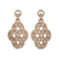 Paris Nouvelle Vague earrings - Pink gold, diamonds - Fine Earrings for women - Cartier