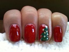 Christmas Tree Nail Tutorial