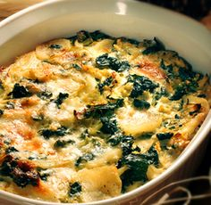 For Passover-Kale and Potato Au Gratin. The kale makes up for all the cheese and starch, right?