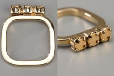 Rounded Square Ring from Berlin-based jewelry designer Sabrina Dehoff.   The best part?  Affordable.