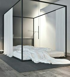 Metal Bed frame  | Use of Black and White decor | Igor  Sirotov