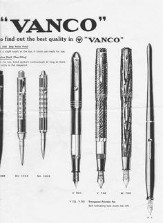 VANCO その1 型録 |「萬年筆グラフ」目録