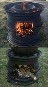 Why buy an expensive barbecue grill, when you can make one from junk materials? Metal Projects, Outdoor Projects, Projects To Try, Rims For Cars, Car Rims, Truck Rims, Outdoor Fire, Outdoor Decor, Outdoor Stove