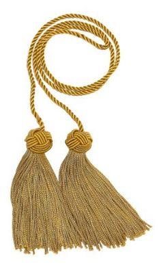 "Set of 2 Dark Gold Chair Tie Double Tassel / Tassel Ties with 3.75 inch Tassels / Spread 27"",Style# BHCT, COLOR: C4 by DecoPro Tiebacks & Tassels, http://www.amazon.com/dp/B00A61BL9C/ref=cm_sw_r_pi_dp_6Txlrb0Q2EA6J"