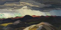 Franklin Carmichael, Snow Clouds, oil on masonite, 96 x cm, National Gallery of Canada Franklin Carmichael, Snow Clouds, Group Of Seven, Close Today, Canadian Art, New Art, Printmaking, Watercolor, History
