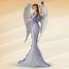 purple lady figurines thomas kinkade | ... of Hope - Angels of Caring Figurine Thomas Kinkade Bradford Exchange