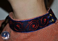 late XII century - Medieval Rus -silk stand-up collar