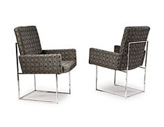 Design Classic 1187 Arm Dining Chair by Milo Baughman