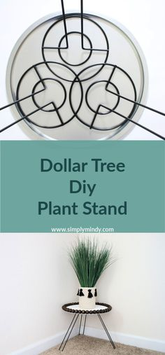 Dollar Tree Diy Plant Stand Diy modern plant stand using Dollar Tree products! Dollar Tree Diy Plant Stand Diy modern plant stand using Dollar Tree products! Dollar Store Hacks, Dollar Stores, Dollar Dollar, Modern Plant Stand, Wood Plant Stand, Plant Stands, Dollar Tree Decor, Dollar Tree Crafts, Dollar Tree Flowers