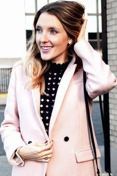 Pink Double-Breasted Coat | WANT | Pinterest | Coats Wool and