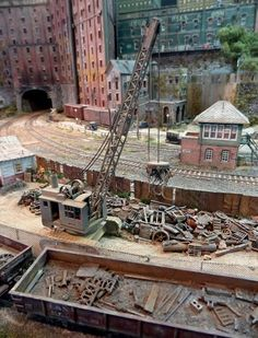 """""""Franklin & South Manchester Revisited"""" Photo by John Sullivan. #model_railways #diorama #Miniature_house"""