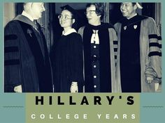 Images of Hillary Rodham Clinton at Wellesley College in the late 1960s.