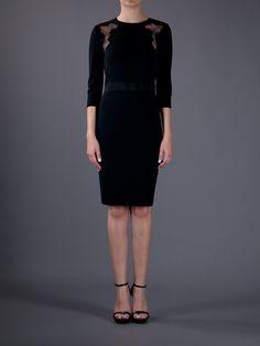 Giambattista Valli Lace Insert Dress - Gallery - farfetch.com