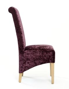 http://www.bonsoni.com/karas-crushed-velvet-grape-chair-pair-by-sherman Karas Crushed Velvet Grape Chair (Pair) by Sherman is Add a luxurious touch with this amazing roll back dining chair upholstered in a luxurious crushed velvet fabric http://www.bonsoni.com/karas-crushed-velvet-grape-chair-pair-by-sherman