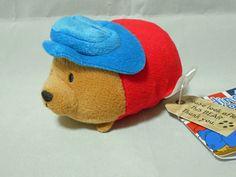 Paddington Bear Bean bag style Plush (Blue Hat) Japan #Saneiboeki