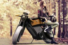 Imaginando una moto eléctrica de Tesla