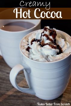 Creamy Hot Cocoa - Homemade Hot Chocolate is the best! And soo easy to make!