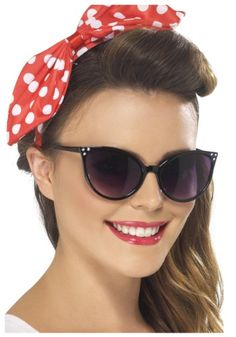 Vintage accessories are totally in style! Pick up these 50s Cateye Sunglasses and wear them daily or with a costume.