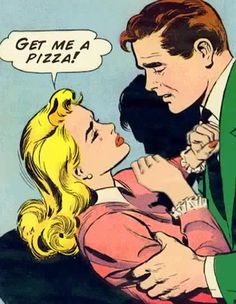 Pickup artist blows the lid off of Valentine's day with really, really long sentence :: We Hunted The Mammoth Pickup Artist, Dark Thoughts, Arte Pop, Vintage Comics, Vintage Art, Couple Art, Comic Art, Street Art, Funny Memes