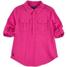 Ralph Lauren - Long-sleeved rayon jersey top - Fuchsia - 102454