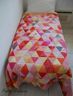 simple and awesome. (triangle quilt bed above by Pretty Bobbins, via Flickr)