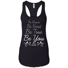 Be Brave Be Kind Women's Racerback Tank Top, XS-XL, Black http://fitstyle.store/products/be-brave-be-kind-women-s-racerback-tank-top-xs-xl-black?utm_campaign=crowdfire&utm_content=crowdfire&utm_medium=social&utm_source=pinterest