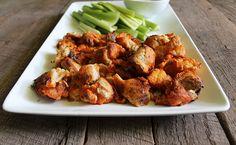 Buffalo Cauliflower Bites & Ranch Dip | nutritionstripped.com