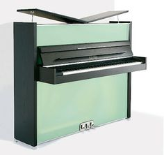 Designed by Peter Maly and built in Germany, Sauter Vitrea features sleek cabinet and frosted glass front panels. Available for sale at Euro Pianos. Mo Design, Modern Design, Piano Vertical, Piano Crafts, Piano For Sale, Moving A Piano, Sound Installation, Old Pianos, Baby Grand Pianos