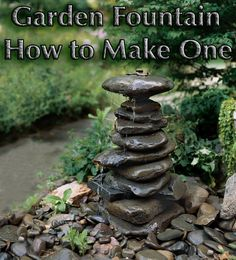 Robbie Goddard sharing small garden fountain ideas and awesome related websites, no affiliation. How To Make A Garden Fountain Out Of, Well, Anything You Want Diy Water Fountain, Rock Fountain, Diy Garden Fountains, Fountain Ideas, Outdoor Fountains, Fountain Garden, Fountain Design, Homemade Water Fountains, Fountain Lights