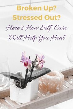 Broken Up? Stressed Out? Here's How Self-Care Will Help You Heal pin Mental Health Help, Mental Health Journal, Getting Over Heartbreak, Self Esteem Affirmations, Self Esteem Activities, Essential Oils For Massage, Building Self Esteem, Self Esteem Quotes, Be Gentle With Yourself