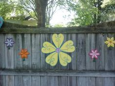 Another decorated fence section