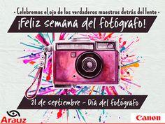Salgamos a festejar, claro con cámara en mano. #diadelfotografo #canon #arauzdigital