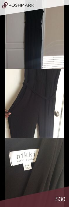 Plus size black jumpsuit Size 2X jumpsuit, only worn once to a party. nikki poulos Pants Jumpsuits & Rompers