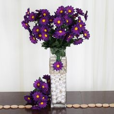 These artificial silk Iris bush are very easy to arrange. The most important thing of all is these gorgeous silk flowers are care-free and will add a touch of class and charm to your wedding decoration. Purple Wedding Decorations, Wedding Vase Centerpieces, Centerpiece Decorations, Wedding Centerpieces, Daisy Wedding Flowers, Silk Flowers, Floral Bouquets, The Fresh