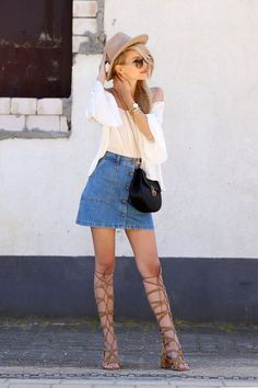 5 Ways To Style Denim This Summer: Skirts