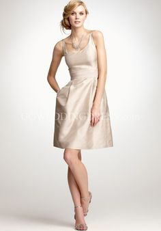 V-Neck Short Length Dupioni Bridemaid Dress Style Silk DupioniV-Neck Bridesmaid Dress Style 247709