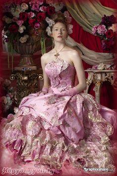 pink baroque-rococo