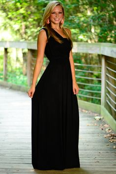 Grecian Goddess Maxi, Black