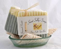 Sea Salt Spa Bar Handmade Soap Vegan Soap by SweetSallysSoaps,