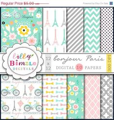Hey, I found this really awesome Etsy listing at https://www.etsy.com/listing/156118884/50-off-paris-digital-papers-with-eiffel