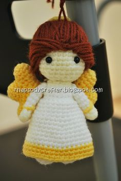 """crocheted amigurumi angel"" #Amigurumi  #crochet"