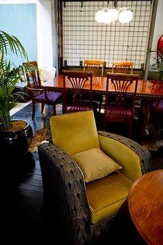 The new Parlour risen from the ashes with Spanish flair. Wine Bar Restaurant, Parlour, Armchair, Spanish, Furniture, Food, Home Decor, Sofa Chair, Single Sofa