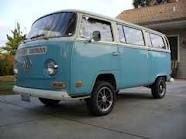 VW Bus. Why did Mom have to get rid of hers?! :(  MANY MANY fun camping trips and beach trips were had in that beast!
