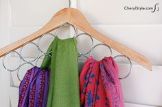 A Great DIY Scarf and Tie Hanger - http://www.diyscoop.com/a-great-diy-scarf-and-tie-hanger/