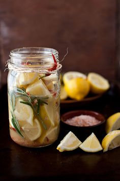 Preserved Lemons with Rosemary & Red Pepper...add to fish, lamb, or chicken recipes. Lemons also give a big flavor boost to tuna, lobster, and pasta salads.