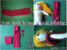 Creating my way to Success: Upcycling for some dolls clothes - Guest post tutorial from Becky at Creatively Content