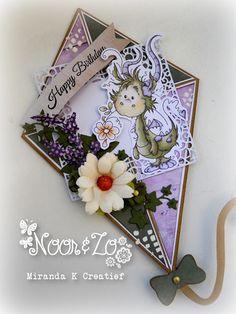 Miranda K    Dutch Doobadoo card art Kite / Vlieger  Silvia Zet - Freddie