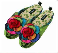 4c0c86c75a3 Goody Goody Kaleidoscope Green Bon Bon Women s Slippers size Small Green  Slippers