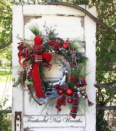 Christmas Door Wreath Christmas Door Decor Front Door