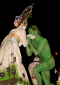 HuwThomas-98 by Beltane Fire Society, via Flickr Wiccan, Witchcraft, Witch Spring, Pagan Festivals, Fire Festival, Marriage Vows, Sacred Feminine, Sabbats, Bacchus